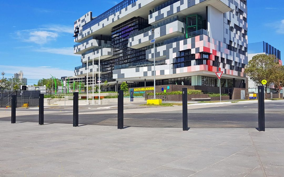 New Install of the Square 900 Bollards in South Melbourne