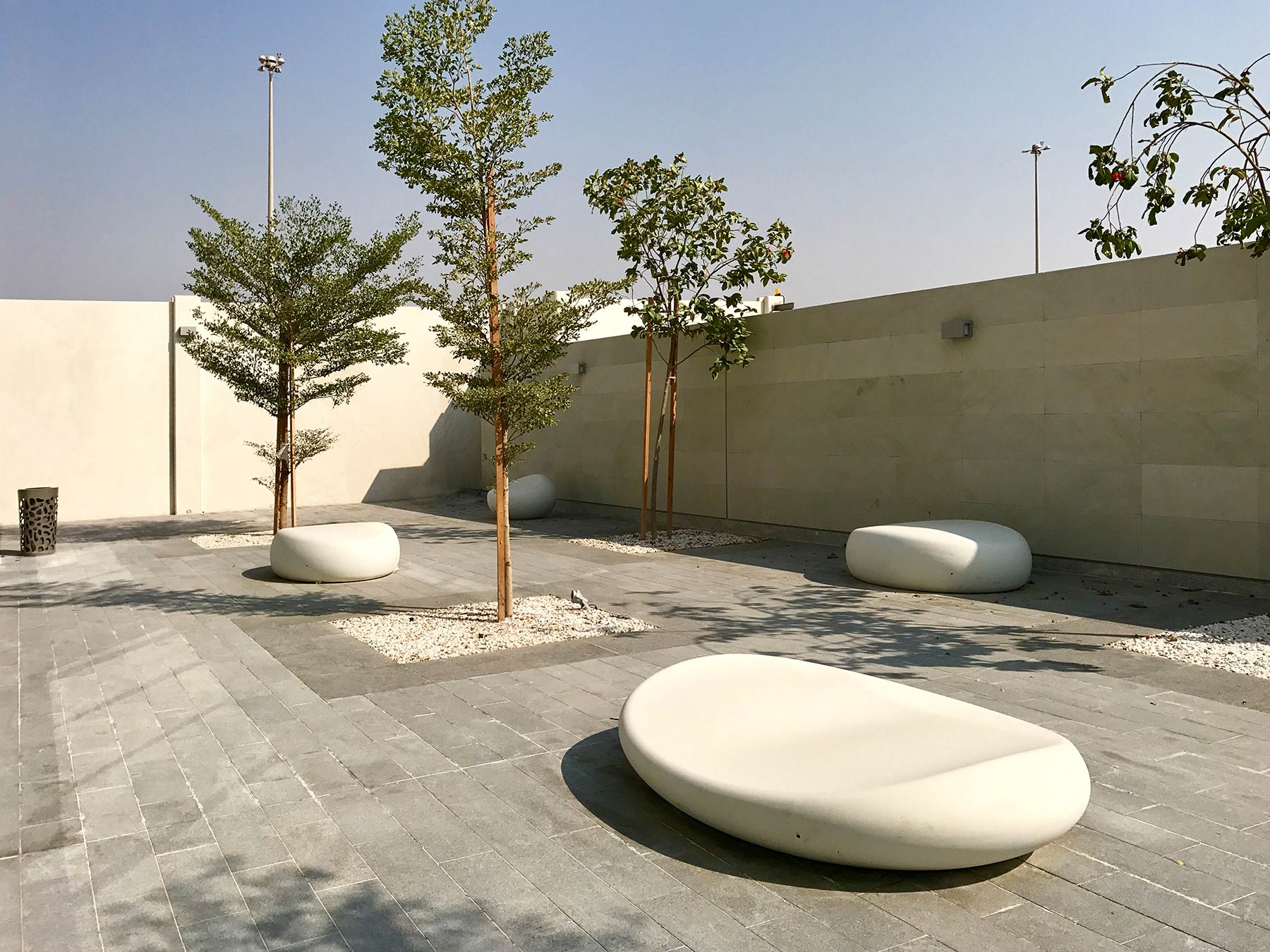 Pebbles Bench and Claps Bin