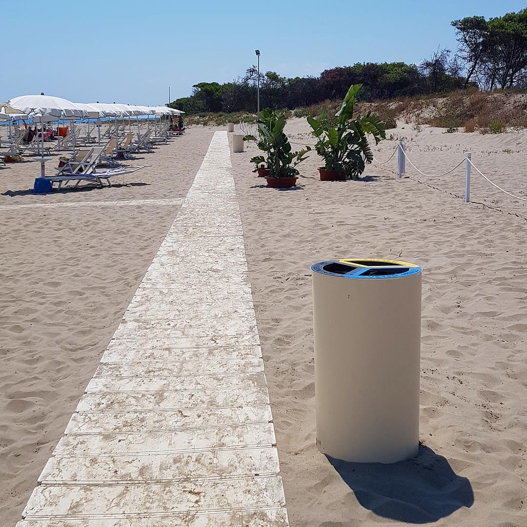Recybin 3 Recycling Bin at Argonauti Beach Resort in Pisticci