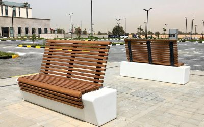 Dressing UAE's Saudi German Hospital outdoors